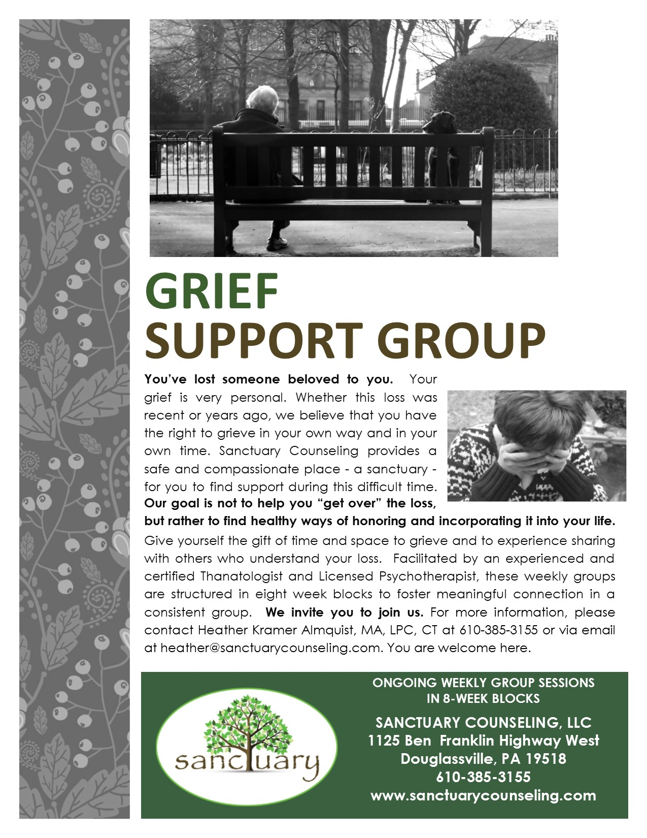 Adult Grief Support Group Flyer